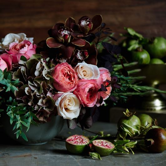 Still life arrangement from Winston Flowers