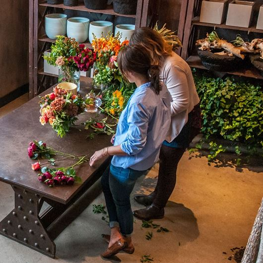 Flower arranging at Winston Flowers